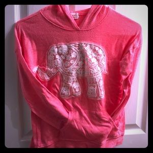 Girls hooded sweater size M